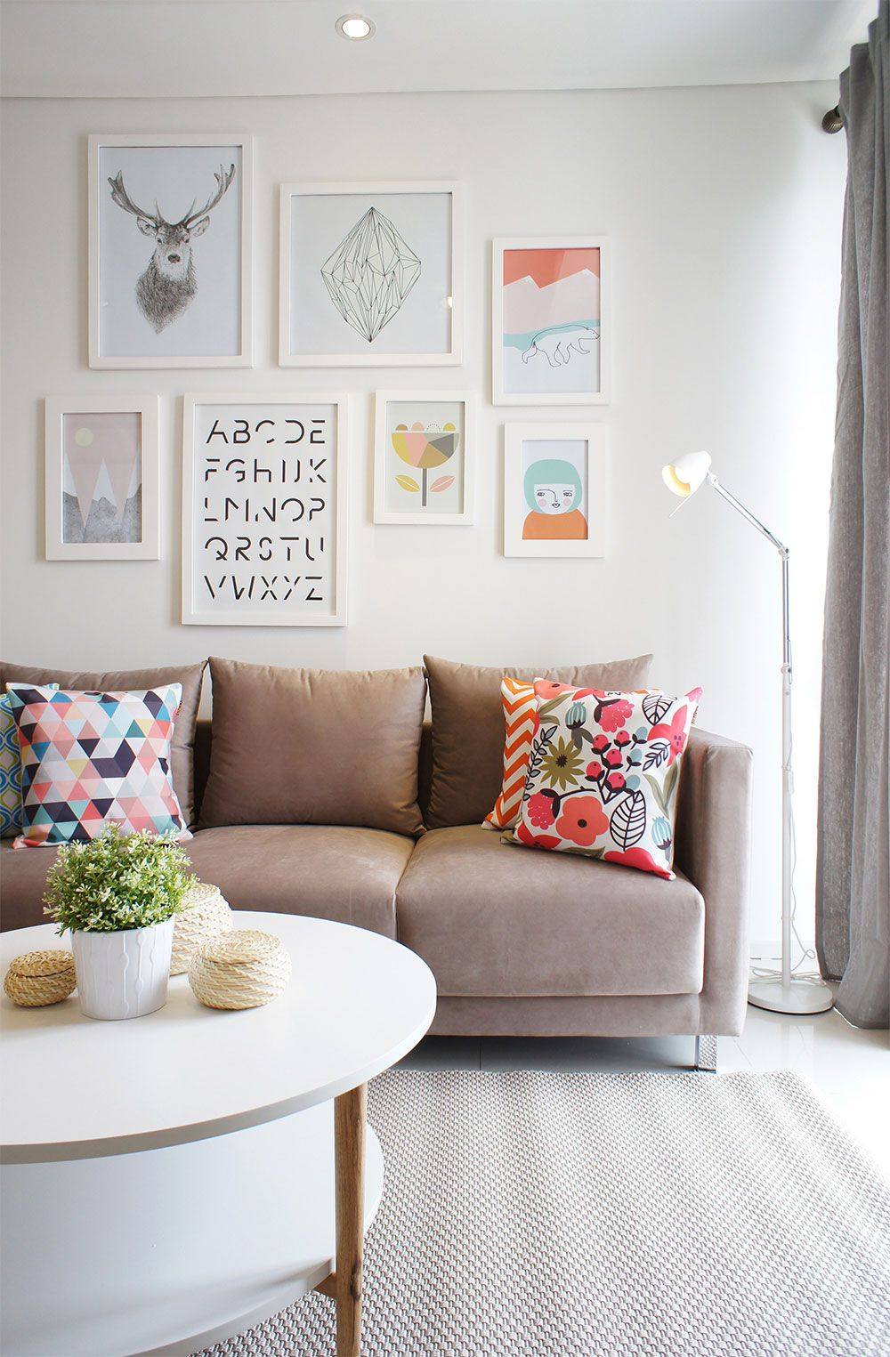 Modern Scandinavian Living Room Interior with Pastel Color ...