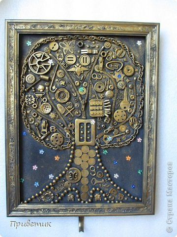 Дерево жизни | Картины, Мозаичное искусство, Поделки ключи
