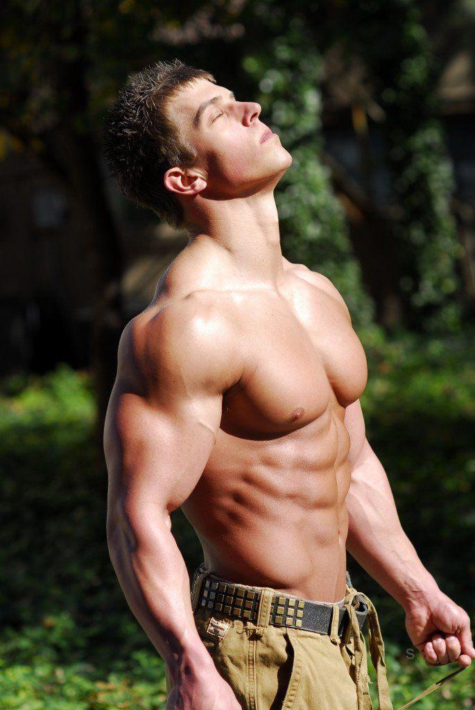 Cum on my hot muscular body