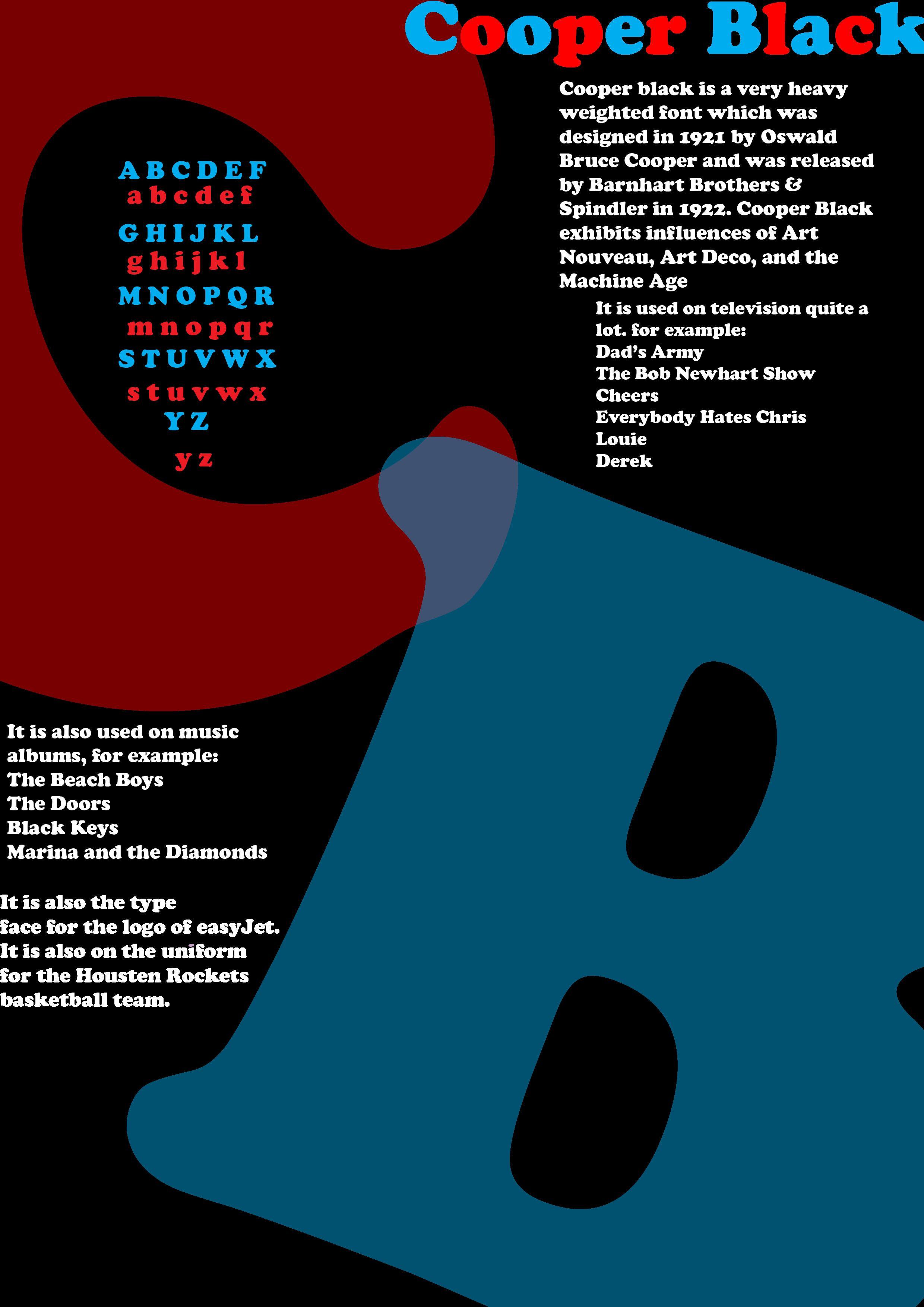 Second Cooper Black Typography Poster Cooper Black Pinterest