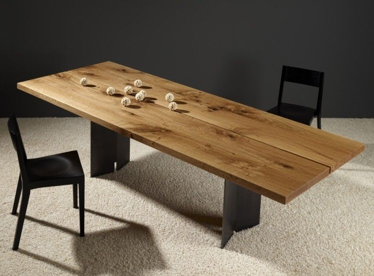 Plateau Table Bois Massif #13: Table En Bois Massif - Style Industriel Et élégance Suisse