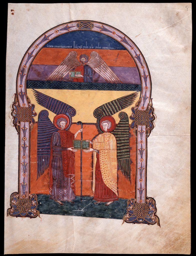 Beato de Liébana: códice de Fernando I y Dña. Sancha - (15) (Dos ángeles sostienen el Evangelio de Mateo?)