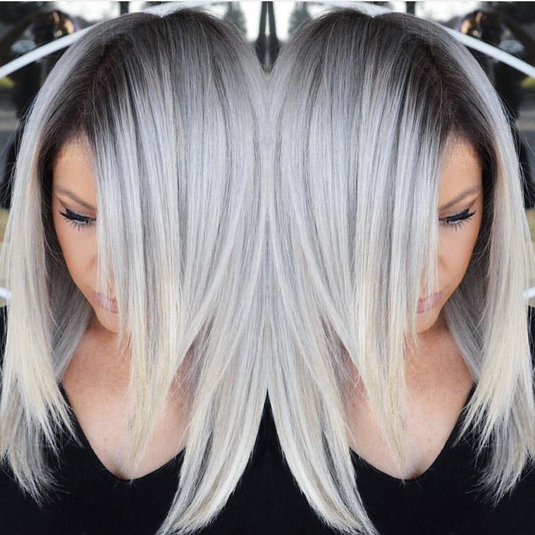 """Hot on Beauty on Instagram: """"Stunning Silver hair color design with ..."""