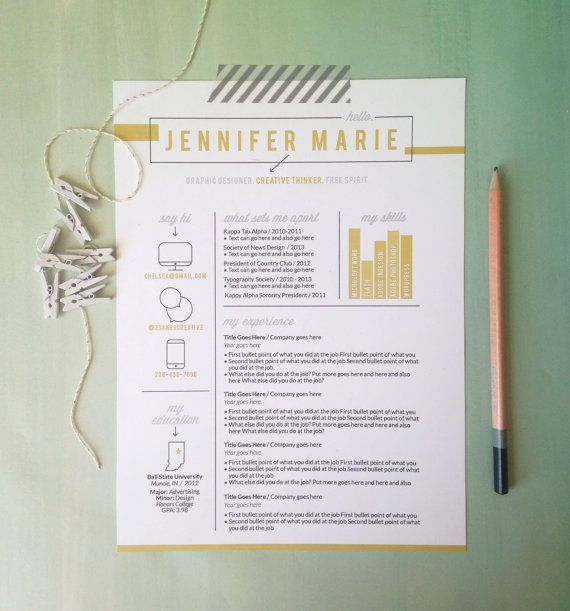 Instant Download Resume  Letterhead Template / The Debbie - modern resume layout