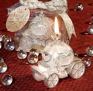 wholesale candle favors buy cinderella carriage candles romantic pumpkin carriage candle wedding favors quinceanera gifts