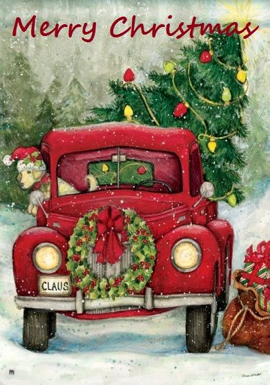 christmas flag- Susan Winget