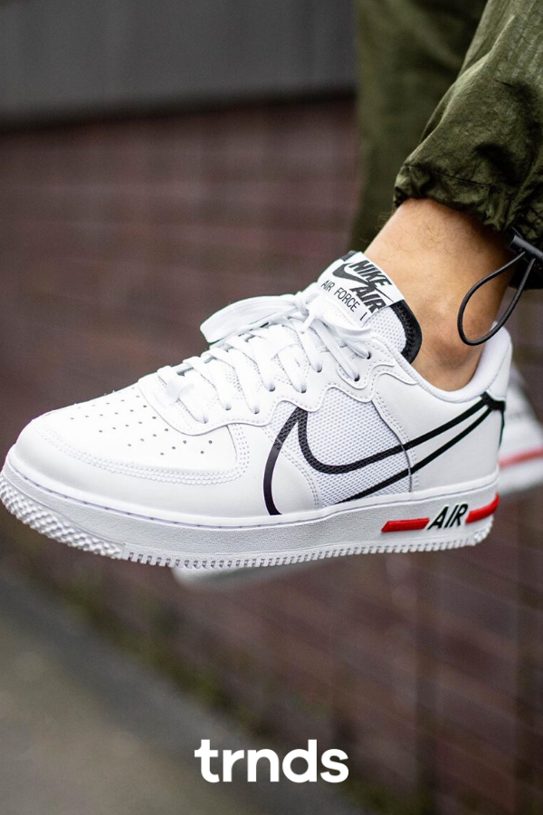 Take An On Foot Look At The Nike Air Force 1 React The Sole Supplier In 2020 Sneakers Fashion Nike Sneakers