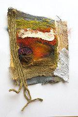 Fragments # 1 (Beate Knappe) Tags: art collage handmade mixedmedia felt needlefelt fabriccollage fabricart embellisher textilart