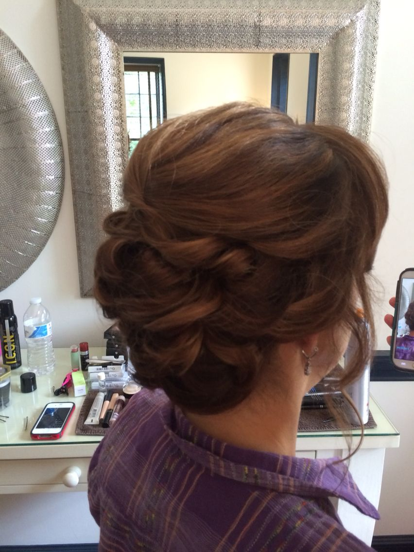 Mother of the Bride up-do | Mums hair for wedding ...
