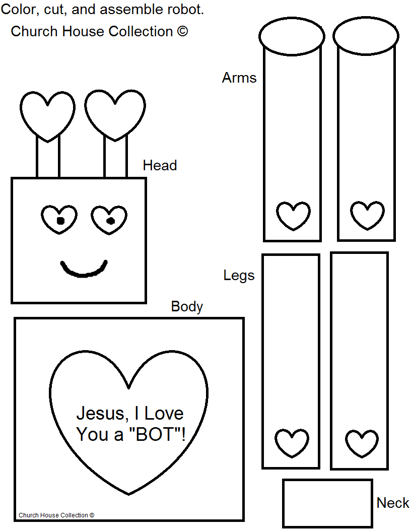 find this pin and more on free valentine template pattern cutouts valentine robot craft for kids - Kids Craft Templates