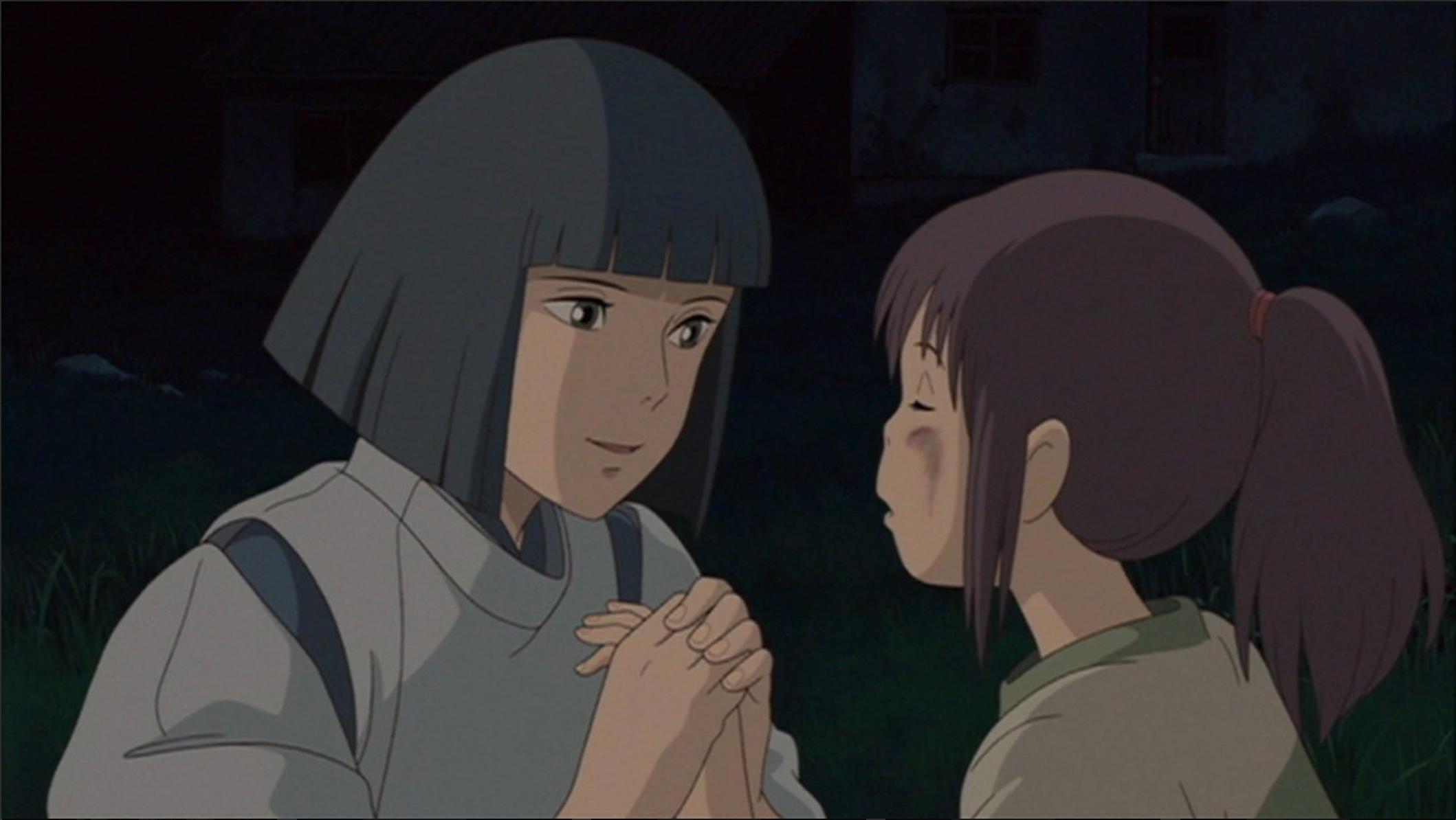 Haku About To Hold Chihiro S Hand Glad That She S Okay Ghibli Studio Ghibli Spirited Away
