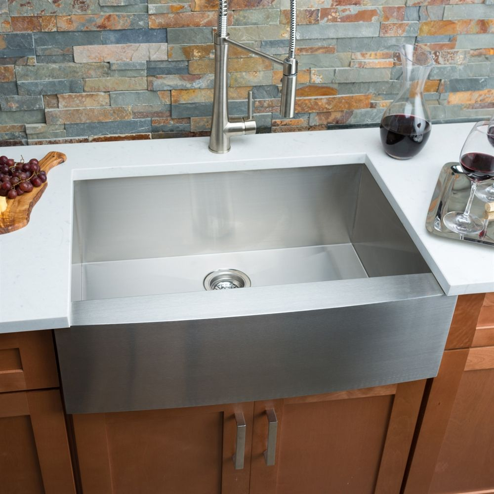 Hahn FH00 Farmhouse Single Bowl Stainless Steel Sink