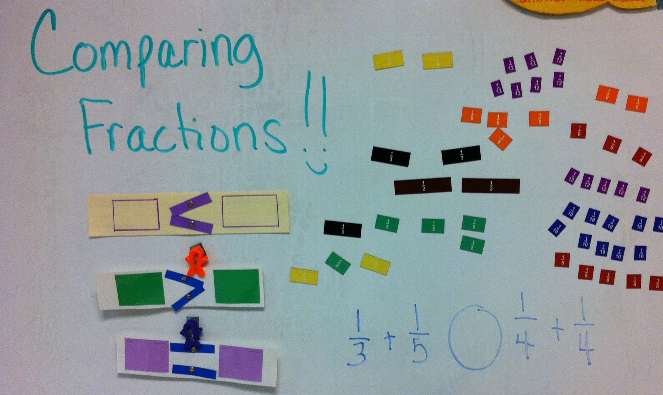 Comparing Fractions W Models