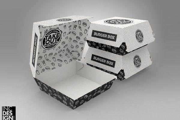 Download Burger Box Packaging Mockup V 1 Burger Box Free Packaging Mockup Packaging Design