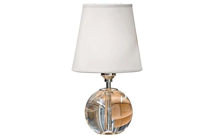 Mini Crystal Orb Table Lamp Clear Crystal Orb Lamp Small Table Lamp