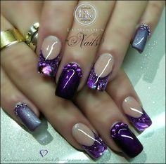 This beautiful purple luminescent polish is stunning and stylish