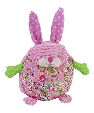 take a look at this pink paisley bunny plush toymaison