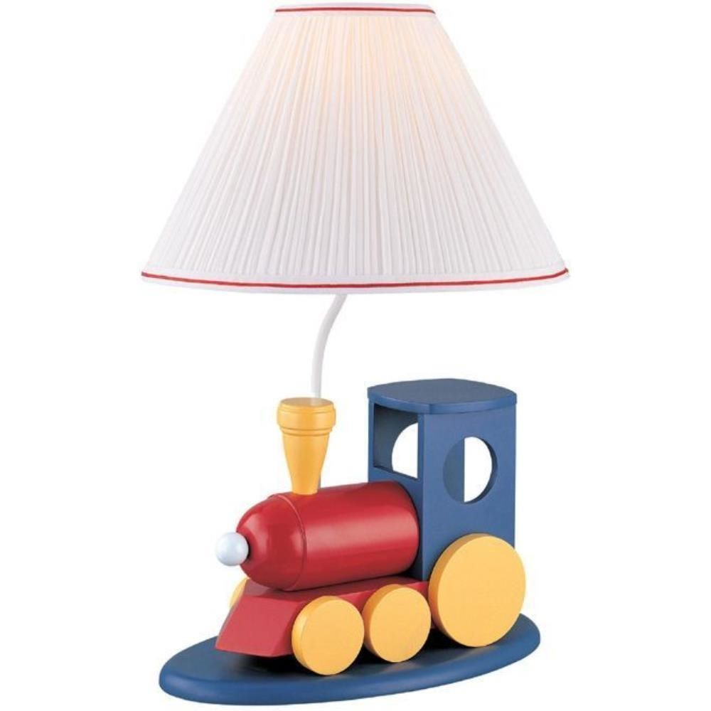 Lite Source Go Go Train Table Lamp Blue Multi Color Ik 6052