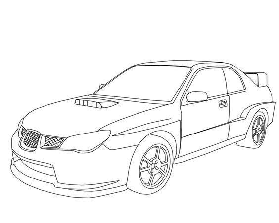 Subaru Wrx Sti Coloring Page