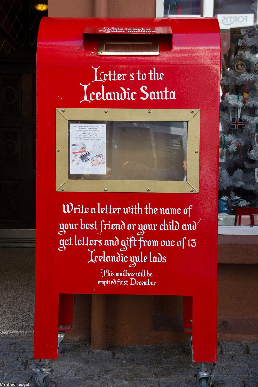 Icelandic Santa Mailbox Iceland Santa Mailbox Christmas Display