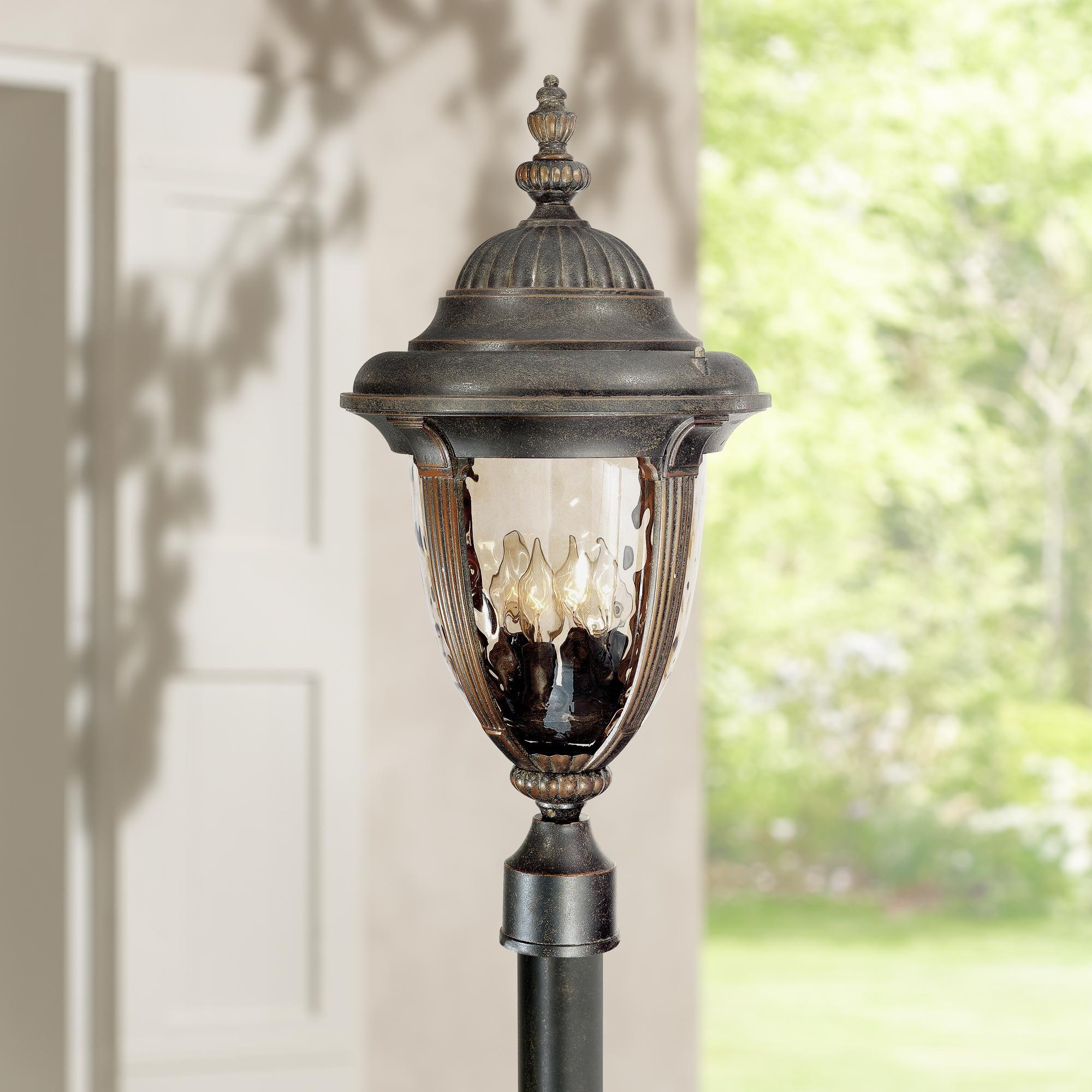 Bellagio 24 And One Half Inch High Bronze 4 Light Outdoor Post Light