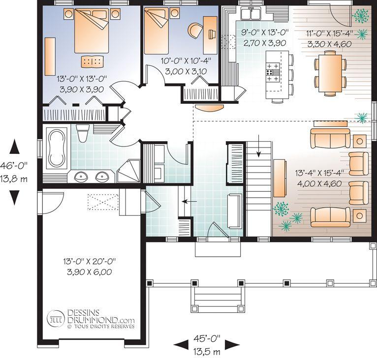 Plan modèle plain-pied - Maisons Laprise - Maisons pré-usinées