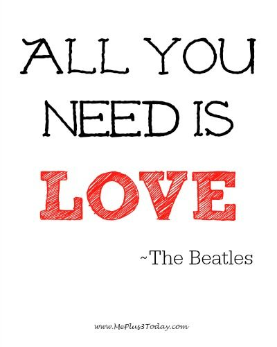 Make A Difference Monday Blog Link Up All You Need Is Love The Adorable Beatles Quotes Love