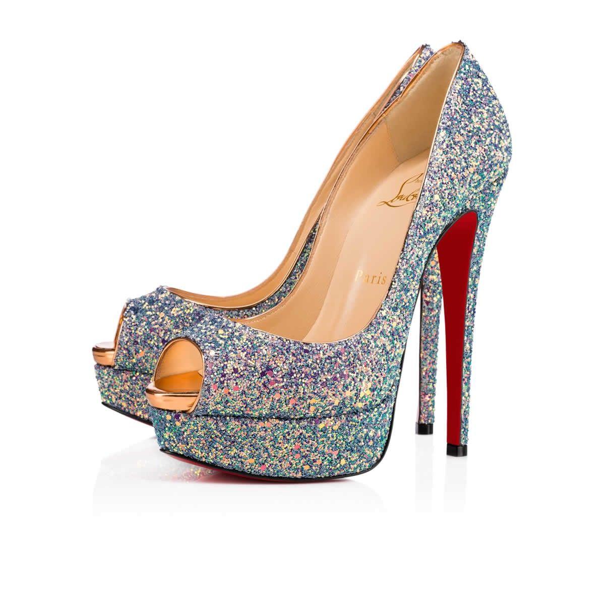 Lady Peep Dragonfly Glitter 150 ETINCELLE/COPPER Glitter - Women Shoes - Christian  Louboutin