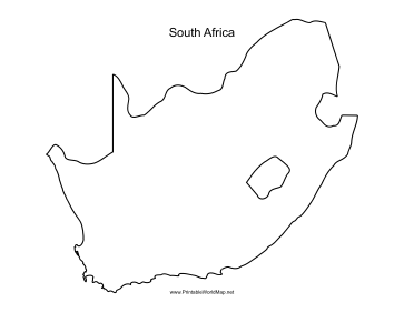 This Printable Outline Map Of South Africa Is Useful For School Assignments Travel Planning And More Free To Down South Africa Map Africa Outline Africa Map