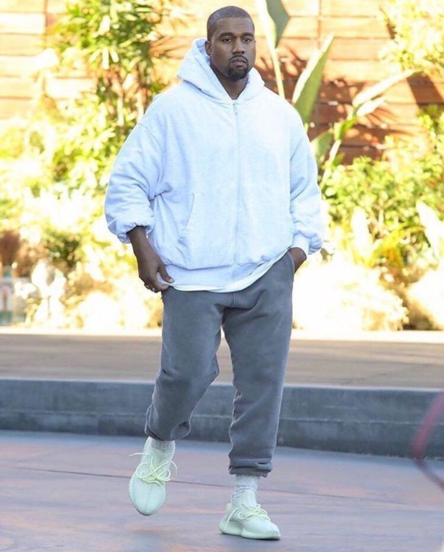 1eb3de7b206a3 Kanye West was seen sporting a new iteration of the  u201cSemi Frozen  Yellow u201d YEEZY ...