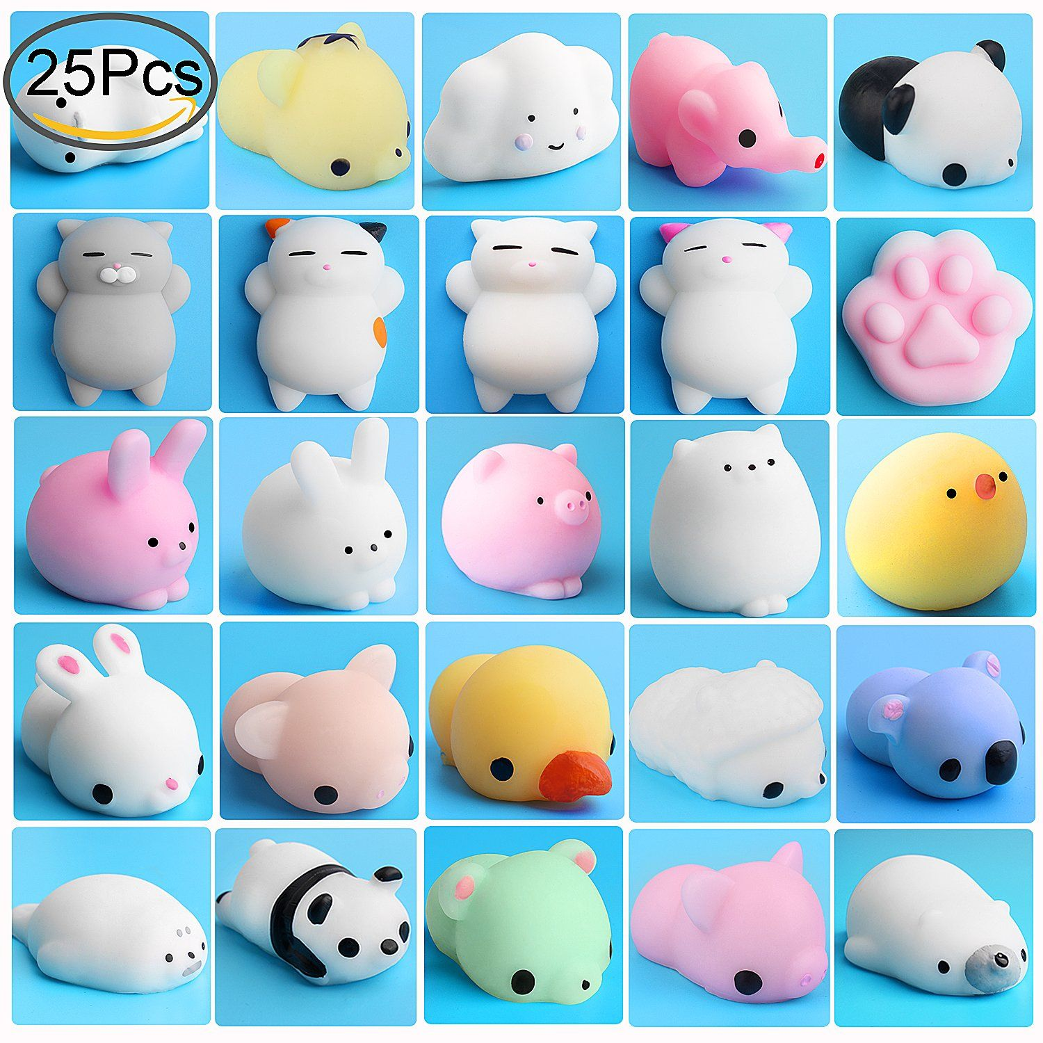 Mobile Phone Accessories Random Mini Mochi For Squishy Slow Rising Cat Kitten Seal Squeeze Cute Healing Toy Kawaii Squishies Collection Stress Reliever