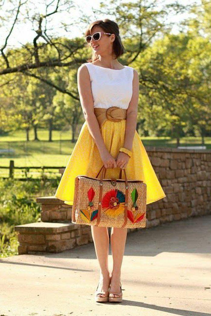 564b9b190514 ▷ 1001+ Idées pour la jupe trapèze + des suggestions pour la porter ...