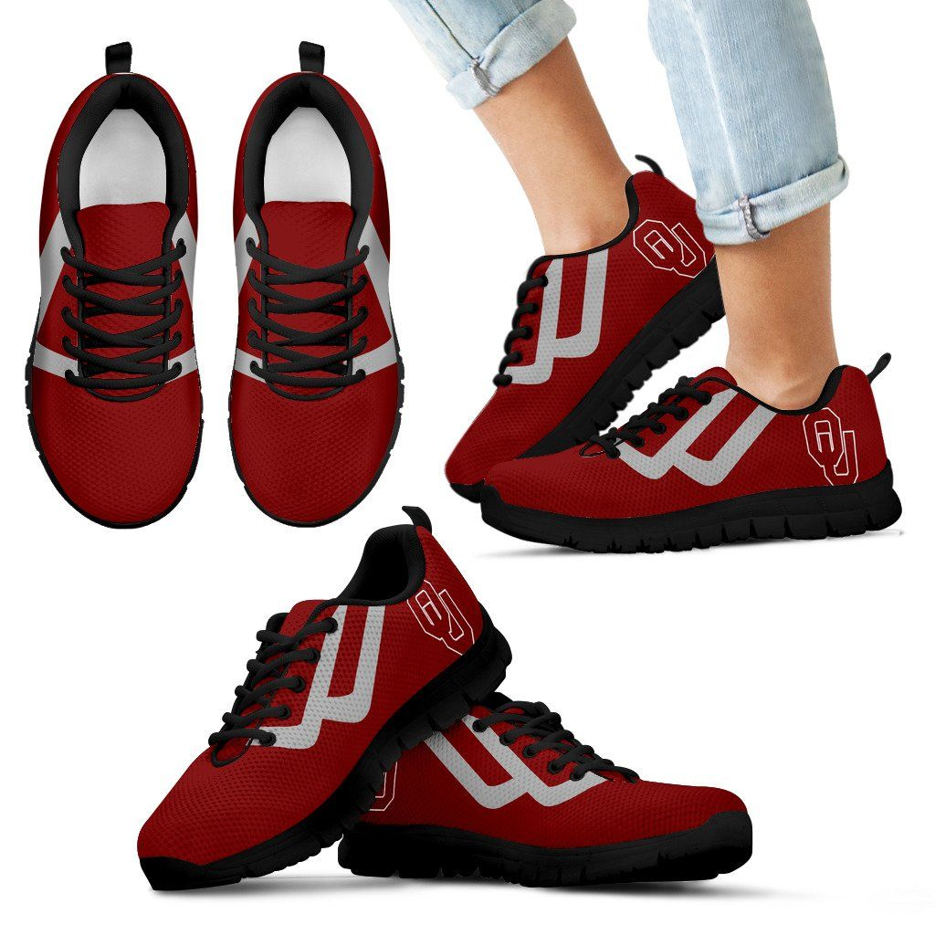 Line Bottom Straight Oklahoma Sooners Sneakers Red