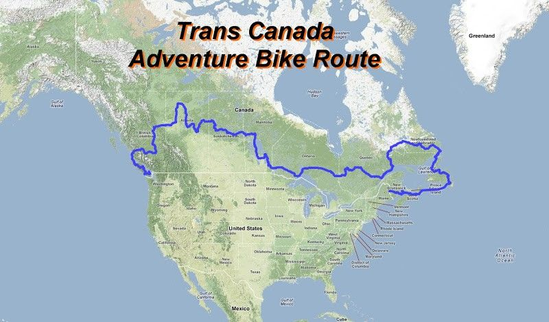 Trans Canada Adventure Bike Route - gpsKevin Adventure Rides ...