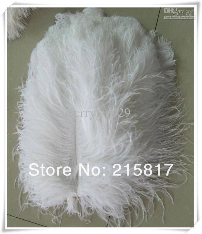 Pcs lot quot wholesale white ostrich feathers