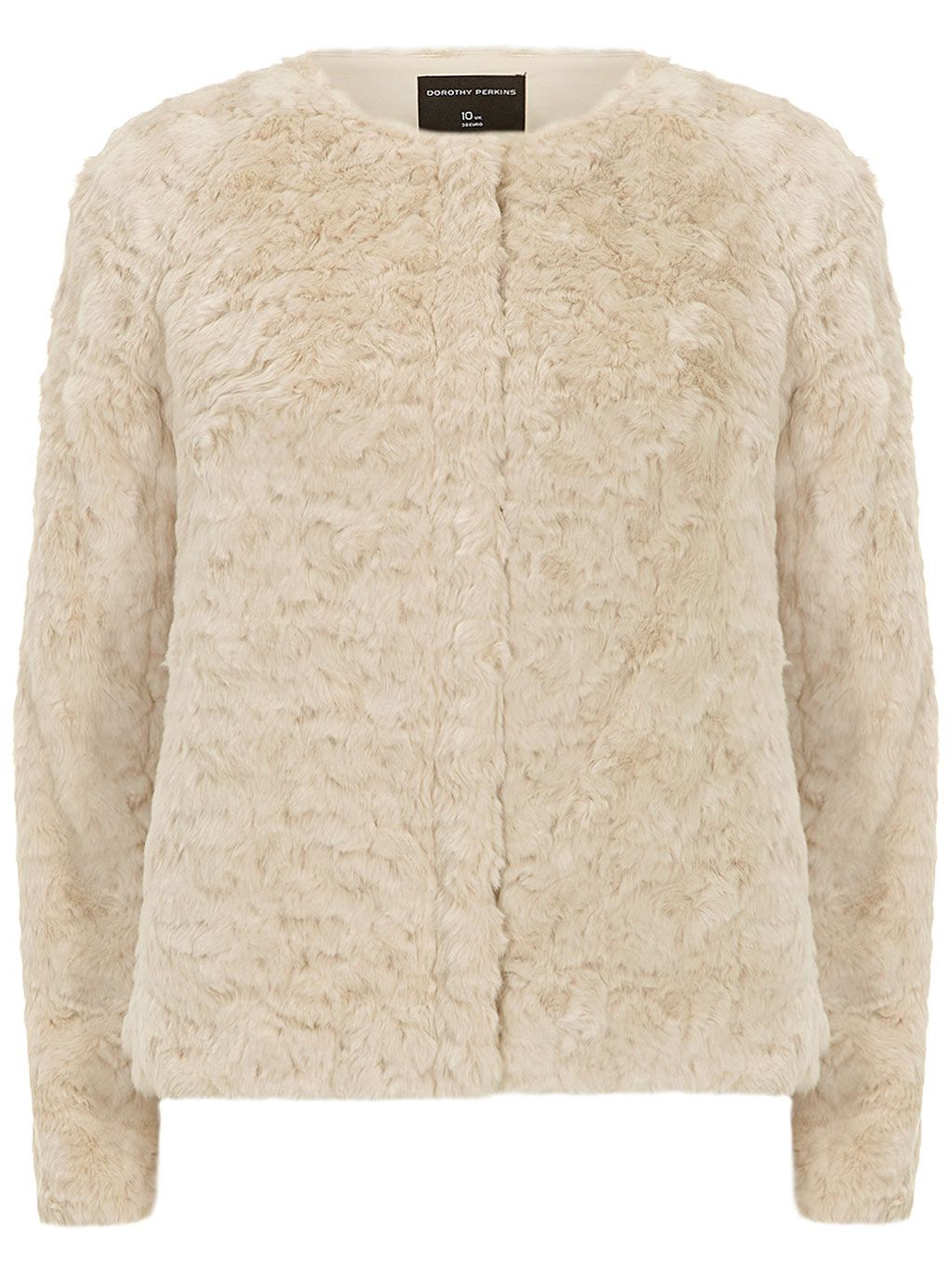 Cream short zip faux fur jacket | DP | Winter Wrapped Up ...