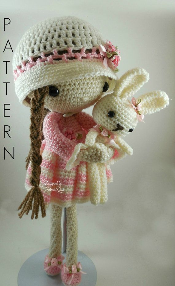 April and her Rabbit- Amigurumi Doll Crochet Pattern PDF | mirza ...