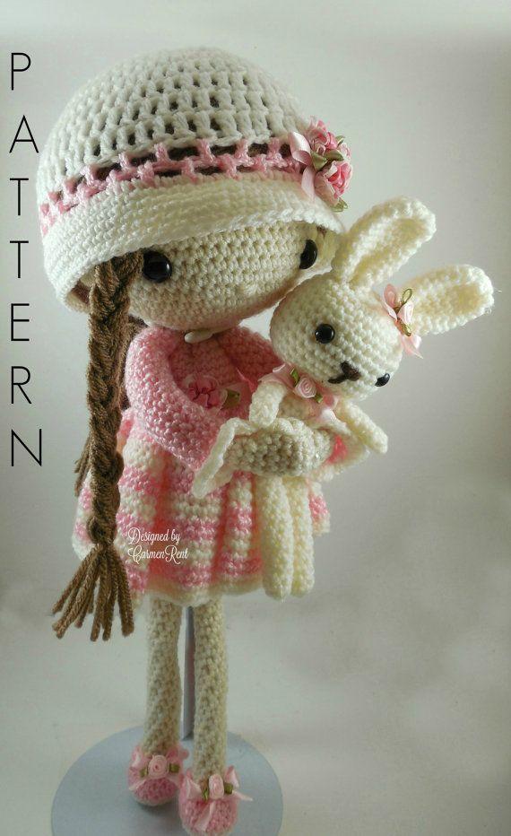 Amigurumi Patrones Pdf : Abril mu�eca amigurumi crochet patr�n pdf por carmenrent