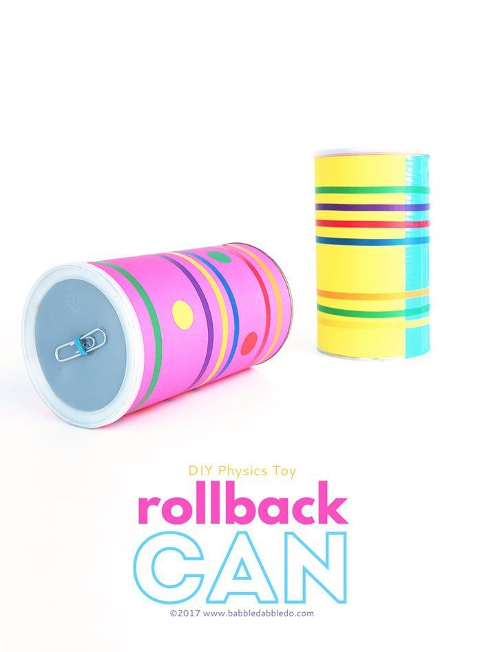 Physics Project Idea: Rollback Can. This fun physics project doubles as a really good party trick!