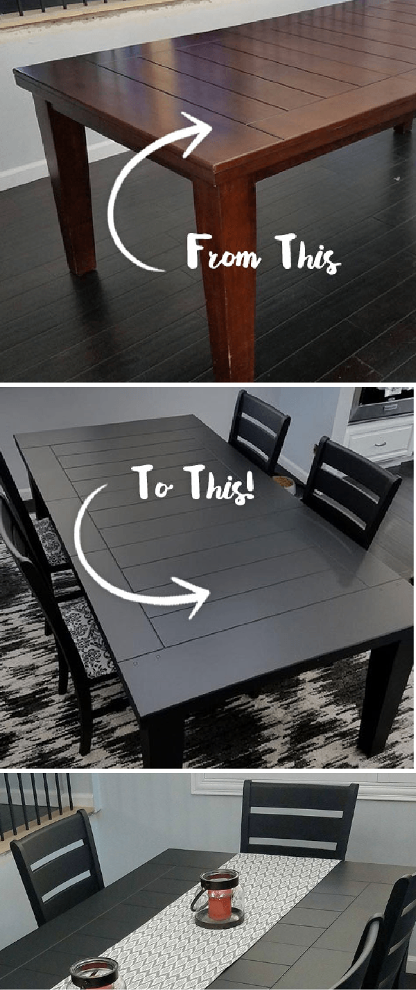 You Can Refinish Your Dining Room Table Set In No Time At All Thanks To This