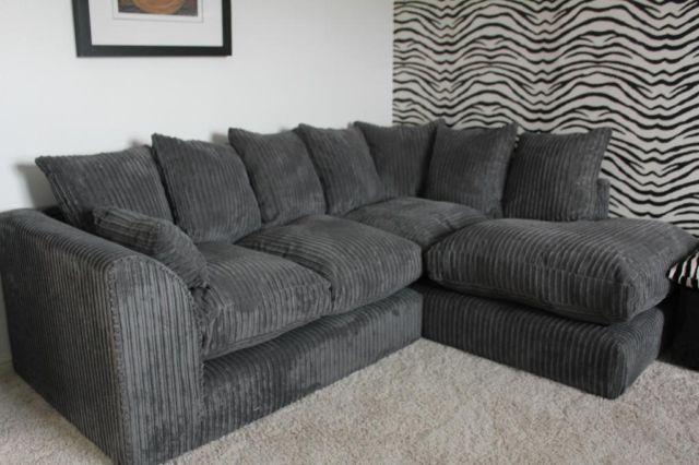 scs jumbo cord corner sofa grey brand new 300 on gumtree. Black Bedroom Furniture Sets. Home Design Ideas