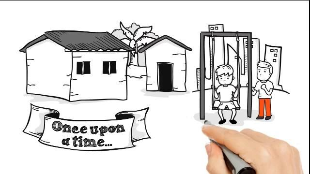 Great animated video, telling the story of a charity