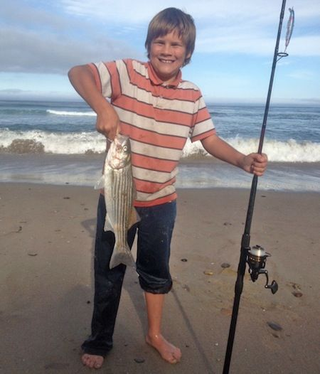 18-inch Striper off of Santa Barbara | Striper, Fishing tournaments, Striped bass
