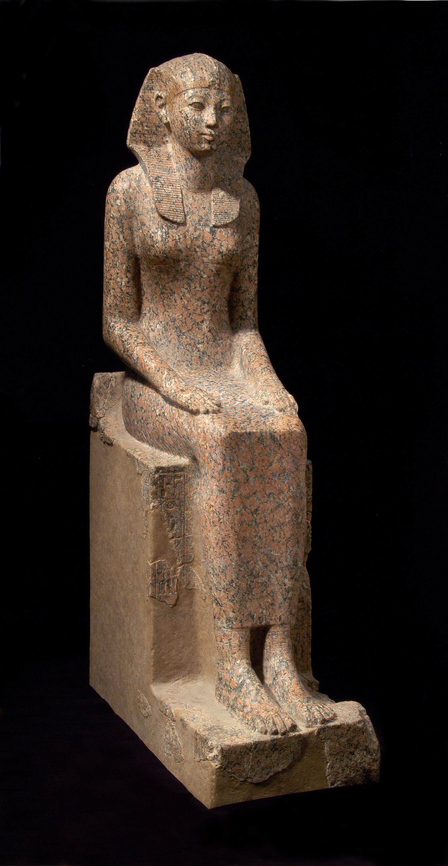 seated statue of hatshepsut One limestone statue shows her without a beard and with breasts, but usually, her body is masculine tyldesley says a childhood depiction presents her with male genitalia gill, ns pharaoh hatshepsut of egypt biography thoughtco, feb 28, 2017.