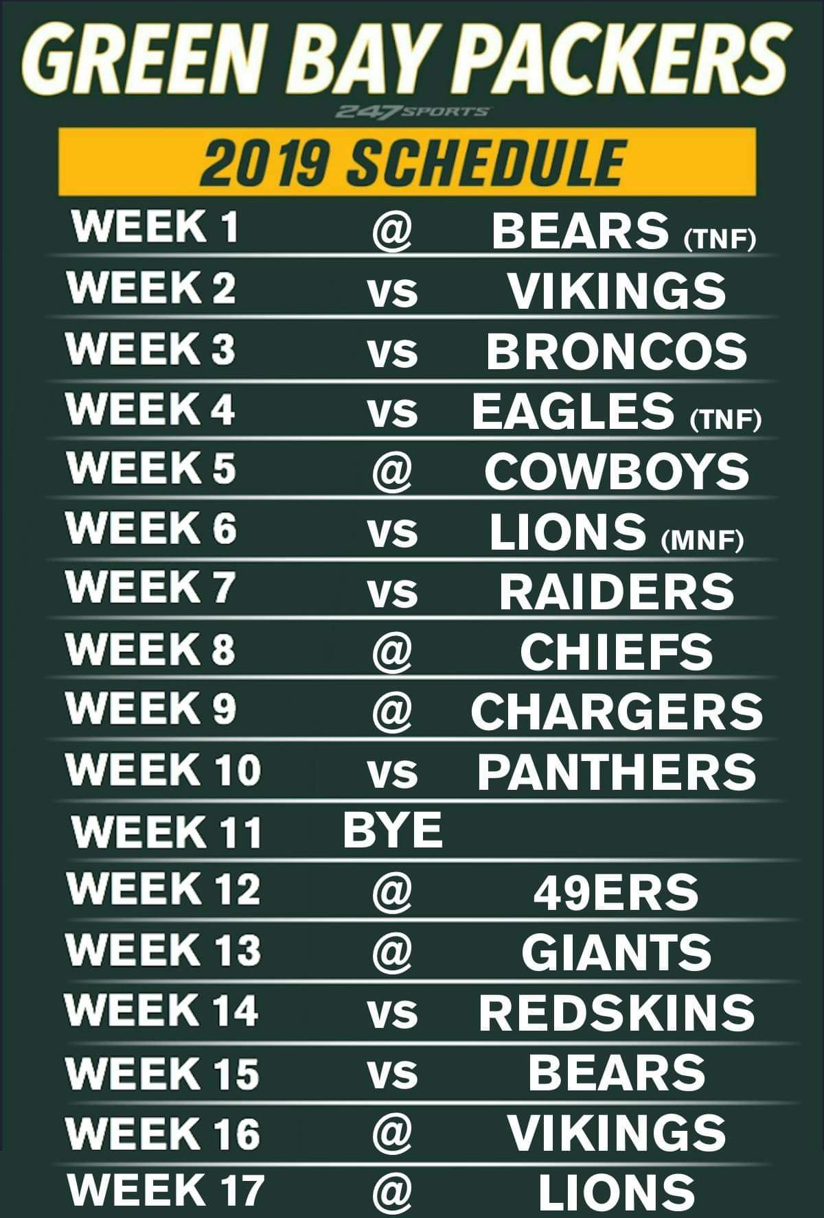 Pin By Kathy Marez On Green Bay Packers With Images Green Bay Packers Green Bay Packers Schedule