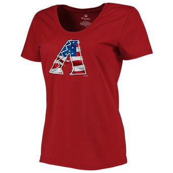 Women's Arizona Diamondbacks Navy Plus Sizes Banner Wave T-Shirt