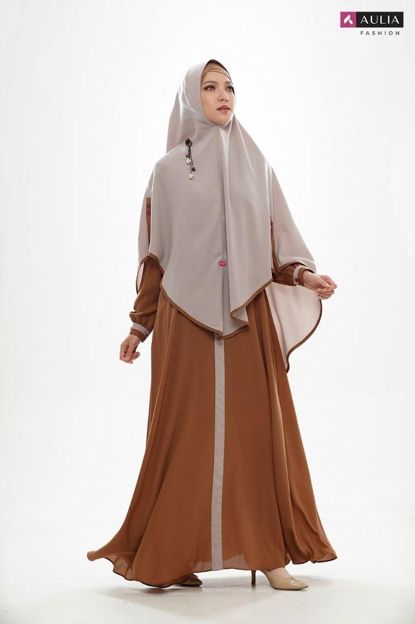 Model baju gamis polos AULIA FASHION. in 11  Black abaya