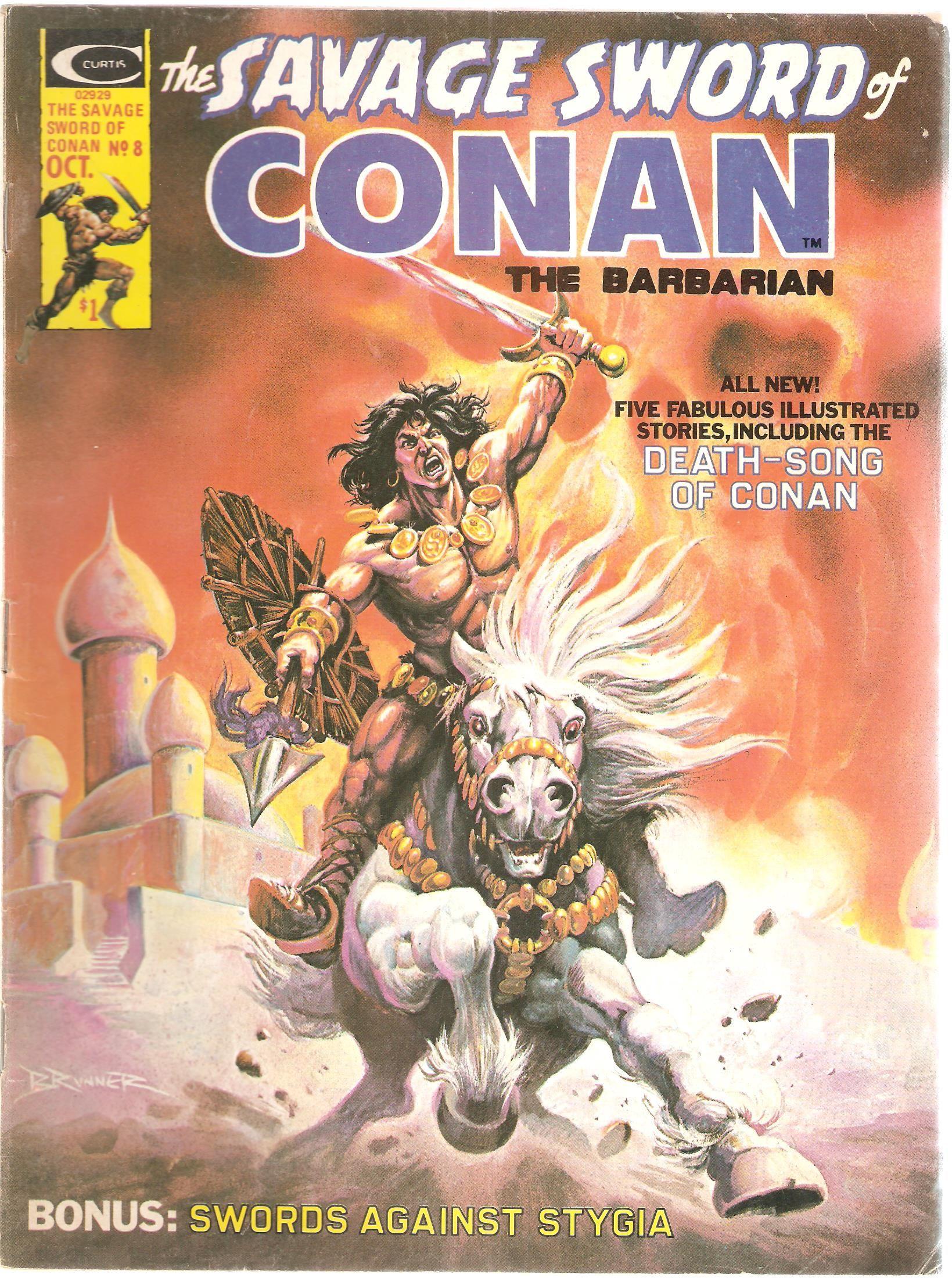 The Savage Sword of Conan the Barbarian. Vol. 1, No. 8. U.S. Comic. Oct. 1975.