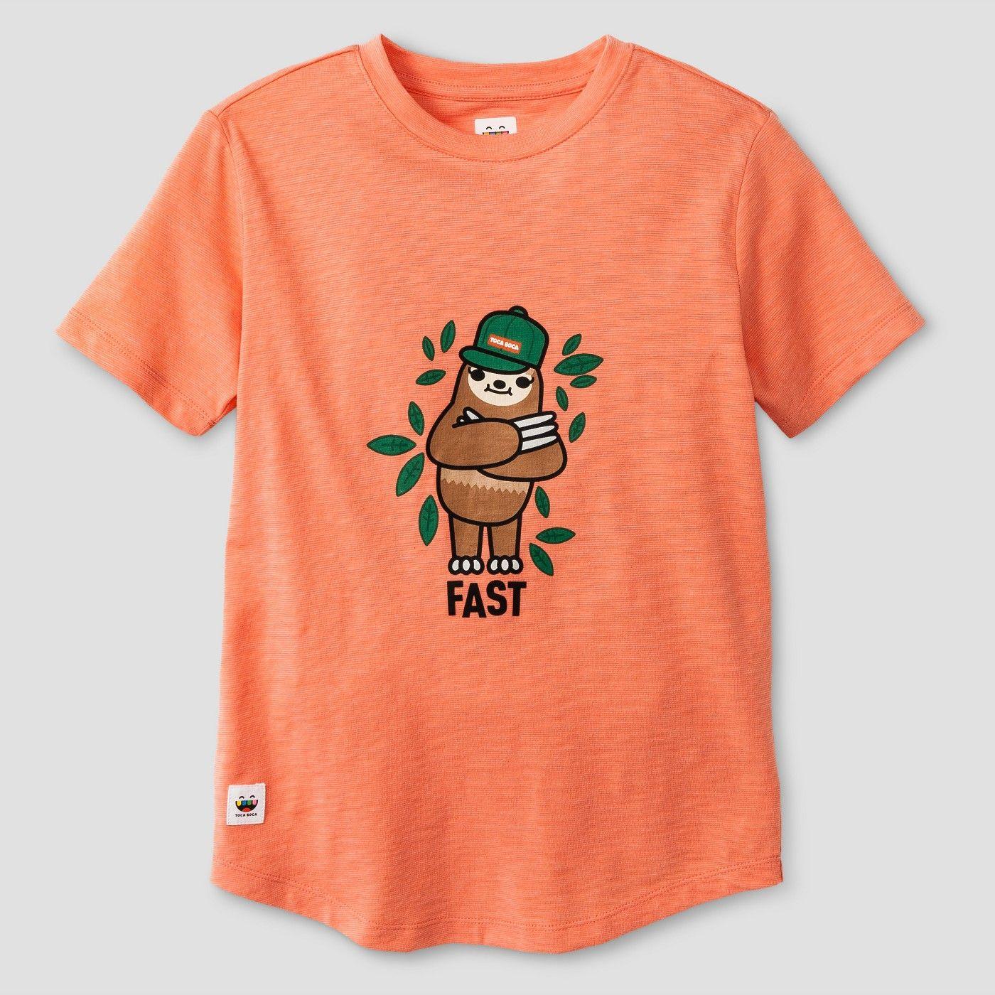 4e313e52 Boys' Toca Boca Sloth T-Shirt Bright Orange XL | Toca boca | Orange ...