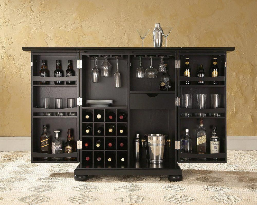 Pottstown expandable bar cabinet with wine storage barfurniture